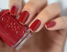 Essie Winter 2015 collection-Shall We Chalet? polish - just got on sale! Red Nail Designs, Pretty Nail Designs, Essie Nail Polish, Nail Polish Colors, Red Polish, Cute Nails, Pretty Nails, Red Nails, Pastel Nails