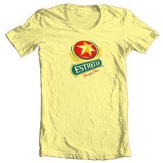 Estrella Cervesa T Shirt Beer Beach Party Corona Guiness Cotton Graphic Tee | eBay