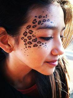 leopard spot face paint by Tess                                                                                                                                                                                 More