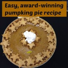 This pie has a hint of maple syrup which makes it extra special and autumnal. Easy enough that my tween could make it, and delicious enough to win a ribbon at a pie challenge!