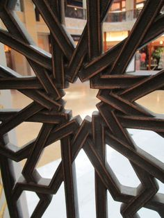 Detail shot of the railing on the second floor.