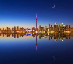 Toronto skyline - Stile arte e cultura Toronto Skyline, Toronto City, Ontario, Grands Lacs, Panorama City, Toronto Island, La Rive, Principles Of Art, Canada