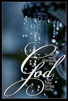 My soul thirsts for the living God. Psalm How true. When we see the universe, the nature around us, do we not hunger for our God. Bible Verses Quotes, Bible Scriptures, Biblical Quotes, Faith Quotes, Christian Life, Christian Quotes, Psalm 42, Scripture Pictures, Lord And Savior