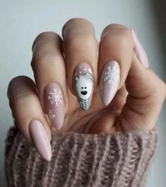 Stylish Gel Nail Art Designs That Are So Perfect for Summer 2019 - Xmas Nails - Cute Christmas Nails, Christmas Nail Art Designs, Xmas Nails, Winter Nail Designs, Winter Nail Art, Holiday Nails, Winter Nails 2019, Christmas Manicure, Valentine Nails