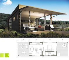 32 Ideas container house design south africa for images about African architecture & interior design . Prefab Homes, Modular Homes, Building Design, Building A House, Bungalow, Container House Design, Container Homes, Low Budget House, Eco Cabin
