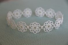 Tatting lace bracelet pdf pattern Clematis by TheKimAndI on Etsy