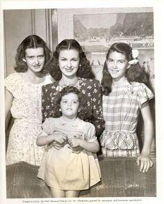 Daughters: Diana (Adrienne Ralston Fox (born February 20, 1928, later named Diana Bennett Markey, then Diana Bennett Wanger)(b. 1928), .......Melinda Markey (b.1934), .......Stephanie Wanger (b.1943) and ...with mother Joan Bennett (not shown daughter Shelley Wanger (born July 4, 1948).)