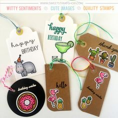 Gift Tags using Sweet Stamp Shop stamps and stickers
