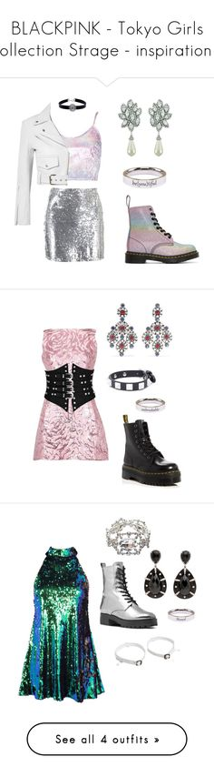 """BLACKPINK - Tokyo Girls Collection Strage - inspiration 2"" by bhgrace ❤ liked on Polyvore featuring Boohoo, Ciner, Dr. Martens, WithChic, Calvin Klein 205W39NYC, Pink Box, Balenciaga, Amrapali, Valentino and Cherevichkiotvichki"