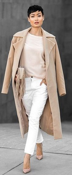 Tan And White Outfit Idea by Micah Gianneli#