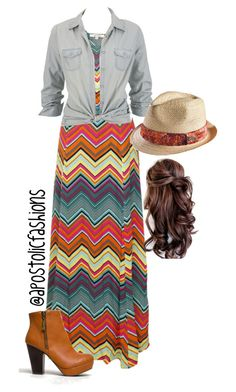 """""""Apostolic Fashions #641"""" by apostolicfashions ❤ liked on Polyvore featuring Ella Moss, Vans, Bamboo and Disney"""