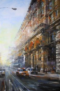 Late Afternoon Manhattan by Mark Lague Oil ~ 36 x 24
