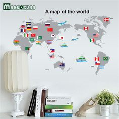 Us764 cartoon animals world map wall stickers for kids room 2017 fashion a map of the world wall stickers flag of the flag map wall art gumiabroncs Image collections