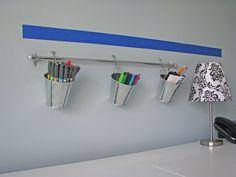 Wannabe Ikea Wall organization. #organize #workspace #office #DIY