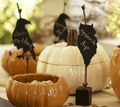 Halloween place card holders by regina
