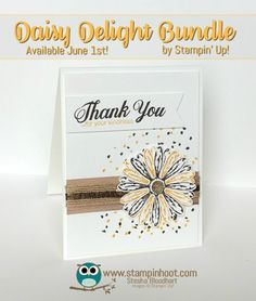 Splitcoaststampers Delight of a Daisy Thank You