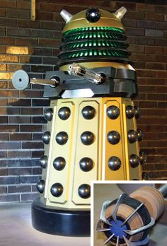 A Motorized, Super-Detailed Robot Villain Made By A Doctor Who Fan. A DIY version of the sci-fi series' ultimate alien: the Dalek.