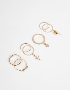 Set of assorted rings - Jewellery - Bershka Saudi Arabia