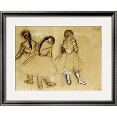 Three Dancers by Edgar Degas//