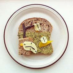 [ The Art Toast Project: Salvador Dalí, The Persistence of Memory © Ida Frosk ] Breakfast Toast, Breakfast Recipes, Food Art For Kids, Food Artists, Latino Artists, World's Best Food, Bread Toast, Food Decoration, Food Humor