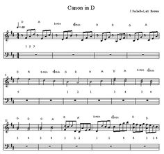 Canon in D - printable music