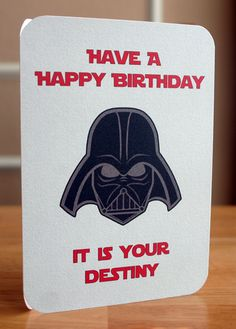 Star Wars Printable Birthday Card Darth by elletoppdesignworks, $2.00