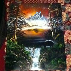 Elk mountain 22x28 spray painting