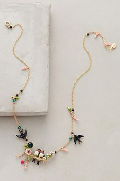 Lovebird Wreath Necklace