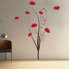 Trendy Flower Tree Wall Decal.  Buy it now from trendy wall designs