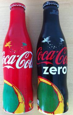 Coca Cola UK World Cup Brazil 2014 - PAIR Zero / Regular aluminium 250ml bottles  | eBay