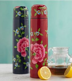 Flowered Thermos