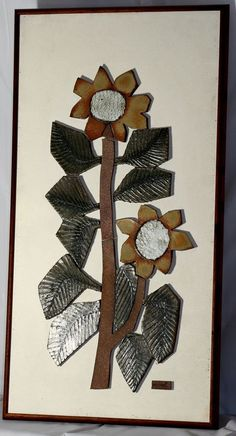Raul Coronel California Studio Pottery Mid Century Modern Large Wall Flower 70's $499 kinda boring tho