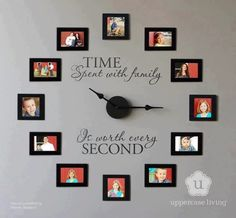 Make A Clock Using Family Pictures!