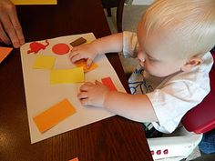 Day 13: sticky art for babies