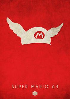 Nintendo 64 N64 Games Minimalist Design Timmy Burrows Super Mario 64