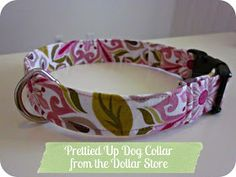 Married Minzilla: Let's Make: A Prettied Up Dollar Store Dog Collar!