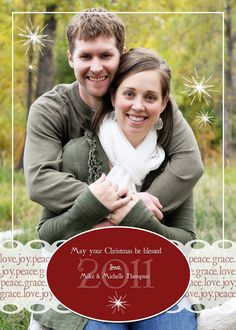 Another cute couple card for the holidays!  #holidays #Christmas