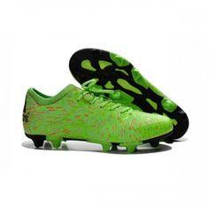 buy online c5096 e8eda 2015 Nouveau Adidas X FG AG - Chaussures de Foot Vert Rouge Noir pas chere