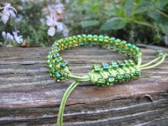 Intense Green Macramé Bracelet by JVossDesigns on Etsy, $26.99