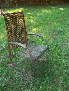Vintage Chair · Vintage Metal ChairsVintage PorchMetal ...