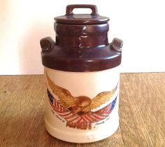 McCOY Wooden Eagle Canister by ContemporaryVintage on Etsy, $30.00