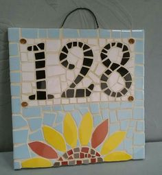 20x20 cm Mosaic House Number Sunflower🌻