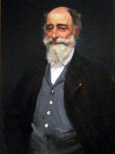 Retrato de Martín Rico Ortega ( Madrid, 1833 - 1908).  Por Sorolla