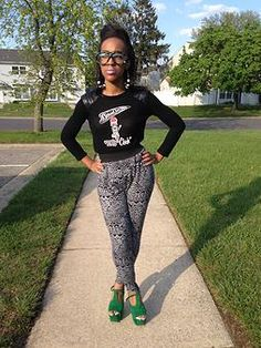 #bosschick Blackshirt & Fatigue Glasses from MY LINE
