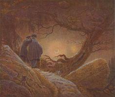 Friedrich, Caspar David: Zwei Männer in Betrachtung des Mondes
