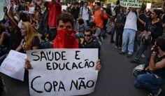 R a g news noticias.com: Brasil:Brasileiros protestam contra despesas com futebol noticias do Brasil e do mundo