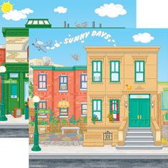 Printable Sesame Street Birthday Backdrop Party
