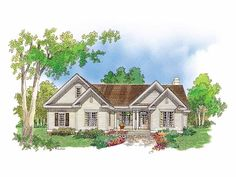 Cottage House Plan with 1650 Square Feet and 3 Bedrooms(s) from Dream Home Source | House Plan Code DHSW41727