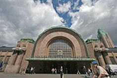 Main entrance of Helsinki Central railway station, Helsinki, Finland