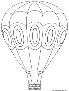 Hot air balloon printable digital images from Birds Cards- Use for fill-in-Description from pinterest.com. I